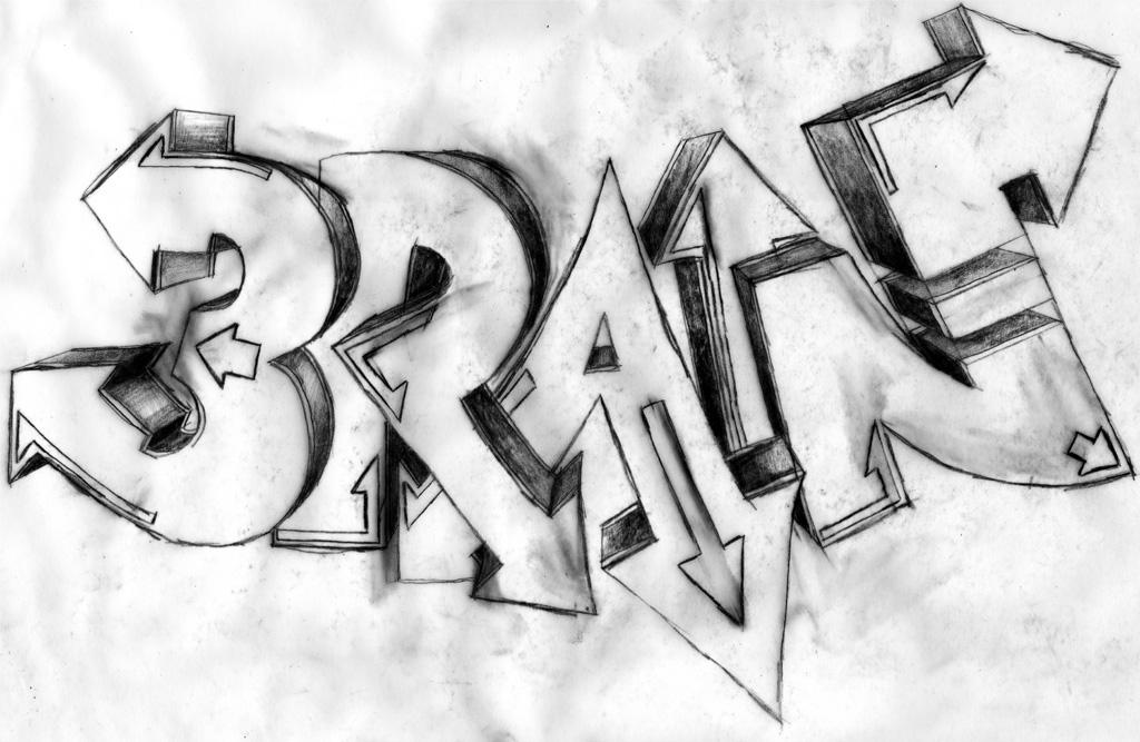Graffiti Mit Dem Pinsel Gemalt